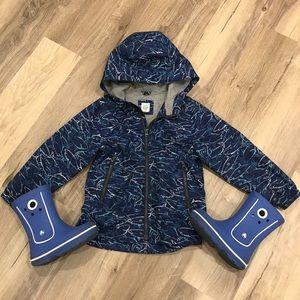 Gap raincoat windbreaker jacket size 5 EUC boy